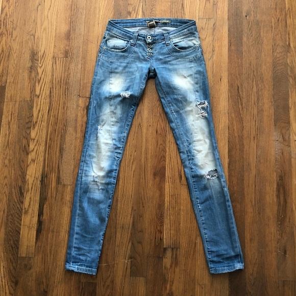 hyvä myynti koko 7 klassiset tyylit Handcrafted PLEASE Vintage Chic Skinny Jeans